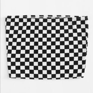 Tops - Checkered tube top!